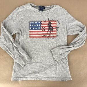 American Flag Long Sleeve Shirt Polo Ralph Lauren